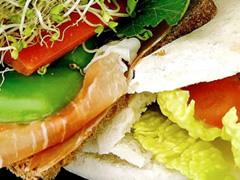 Sandwich con germinado de brócoli